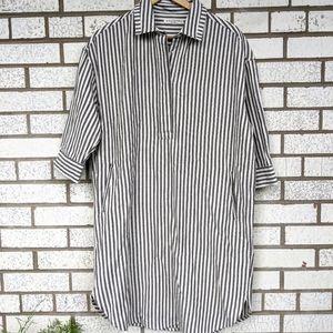 Circle of Trust 100% Linen Shirt Dress Striped